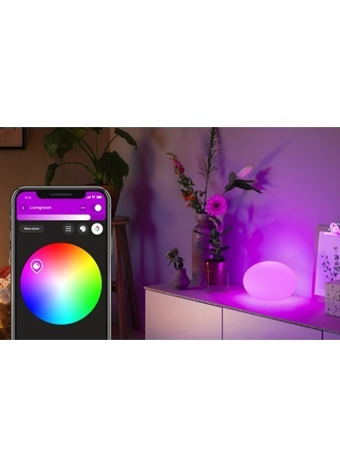 Philips Hue Flourish Renkli Akıllı Dekoratif Bluetooth Özellikli Masa Lambası Renkli